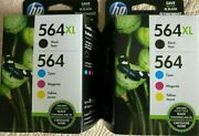 Hp 564xl High-yield Black And 564 Tri-color Ink Cartridgesn9h60fn140lot Of 2