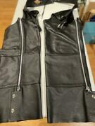 Genuine Black Leather Harley Davidson Motorcycle Chaps Menand039s Xl - Never Worn