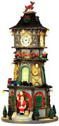 Lemax Village Collection Christmas Clock Tower With Adaptor 45735