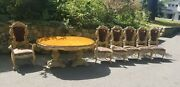 Italian Baroque Style Dining Set, Table And 6 Chairs.cellini Furniture Corp. Ny