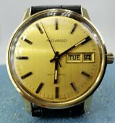 Movado Rare 14k Solid Gold Zenith 17j Automatic Daydate Collectors Watch