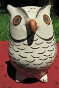 Fine Vintage Acoma Pottery Owl By Grace Chino 60s Native American Indian