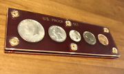 Complete 1964 Us Silver 5 Coin Mint Proof Set Red Capital Holder 90 Silver Read