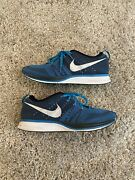 Nike Flyknit Trainer Athletic Running Shoe Mens Size 11 532984-414 Blue White