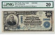 10 1902 Pb Long Island National New York Ny Only 11 Known Pmg 20 Very Fine Vf