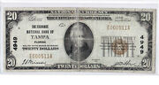 20 1929 T1 National Tampa Florida Fl Harder Of Find And In Demand Note