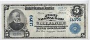 5 1902 Pb National Wood River Illinois Il Rare Only 14 On Censusnice Note