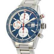 Tag Heuer Carrera Caliber 16 Chronograph Day-date 41mm Stainless Steel Blue ...