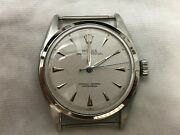 Mens Rolex Oyster Perpetual Model 6084 Dated 1953 Waffle Dial