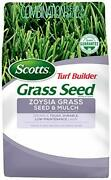 Turf Builder Grass Seed Zoysia Grass Seed And Mulch, 5 Lb. - Full Sun And