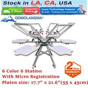 6 Color 6 Station Silk Screen Printing Press Machine Diy With Micro Registration