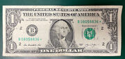 2013 B 1 Star Note Duplicate Error Same Serial Number Issued Dc And Fw