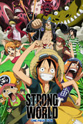 One Piece Strong World Anime Silk Monkey Print Wall Home Decor - Poster 24x36