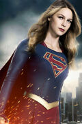 Supergirl Anime Silk Print Hot New Film Painting Wall Home Decor - Poster 24x36