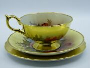 Aynsley Vintage Trio Gold And Roses Signed By J.a.bailey-pat.1804.