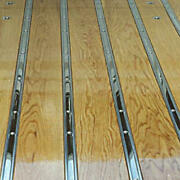 Macs Auto Parts 1951-52 Ford Pickup Truck Bed Strip Set - Plain Steel - 8and039 Bed