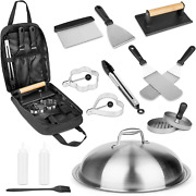 Grisun Griddle Accessories Kit 14 Pcs Flat Top Griddle Grill Bbq Tools For Black