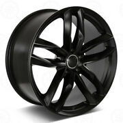 19 Satin Black Wheels Fits Audi A4 A5 A6 A7 A8 S4 S5 S6 S7 S8 Rs5 Rs7