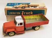 Mf 164 Liberation Truck Friction Tin Toys Red China Vintage New In Box