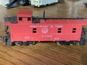 Atlas Ho Scale Baltimore And Ohio Caboose With Some Weathering