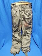 Vintage Vietnam Era 1960and039s Us Navy Usn Buwep Suit Winter Flying Trousers 36l
