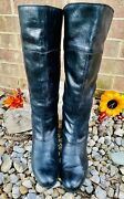Boc Born Concept Riding Boots Size 11/43 Black Leather Tall Zip Comfort