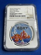 2016 Niue S2 Disney Finding Dory Nemo And Marlin Colorized Ngc Pf 68 Uc