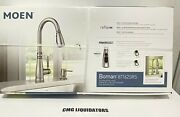 Moen Boman Single Handle Pull-down Sprayer Kitchen Faucet With Reflex New In Box