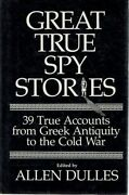 Great True Spy Stories By Dulles Allen - Book - Hard Cover