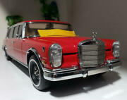 Rare Good Condition Item Cmc 1/18 Mercedes Benz 600 Pullman Red Baron From Japan