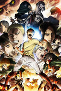Attack On Titan Hot Anime Silk Print New Painting Wall Art - Poster 24x36