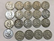 Roll Of 20 90 Silver Franklin Half Dollar Coins. 16 1949 And 4 1949-s. Nkd3
