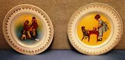 2 - Norman Rockwell Decorative 8 Plates Magic Moments Of Childhood 2 Of 3