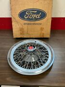1977-1979 Ford Ltd Mercury Cougar Marquis 15 Spoke Wire Wheel Cover Hubcap Nos