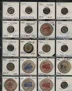 Old Time Collection Of 51 Texas Transit Transportation Tokens 1each