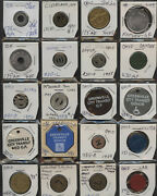 Old Time Collection Of 73 Ohio Transit Tokens 1 Each