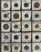 Old Time Collection Of 105 California Transit Tokens 1 Each