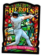 Mark Mcgwire 1998 Topps Gallery Of Heroes Die Cut Cardinals Stained Glass