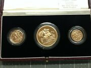 1984 United Kingdom Gold Proof Set - 3 Coins - 22k Highly Collectible Coins