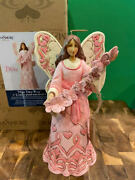 Jim Shore Hwc Hope Takes Wing - Annual Breast Cancer Butterfly Angel 6008100