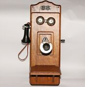 Exc.++ Antique 1908 Model 896 Wall Telephone By Stromberg-carlson Tel. Mfg. Co.