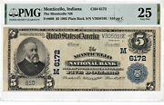 5 1902 Pb National Monticello Indiana In Mega Rare Only 4 On Censuspmg 25