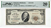 10 1929 T1 National Edmond Oklahoma Ok Extremely Rare Only 8 On Census