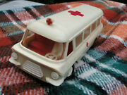 Vintage Soviet Russian Ussr Ambulance Toy Car Battery Powered 22 Cm About 1970