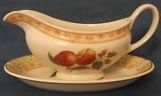 Johnson Brothers Fruit Sampler Gravy Boat And Stand Plate Made In England Ex Cond