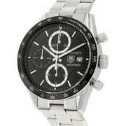 Tag Heuer Carrera Chronograph 41mm Stainless Steel Black Dial Cv2010.ba0794
