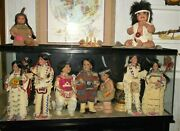 13 Native American Dolls For Sale. No Boxes _ All Dolls Are In Used Condition