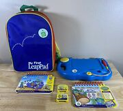 Leap Frog My First Leap Pad Learning System 2 Books 2 Cartridgesbackpack Bundle
