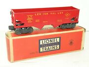 Lionel Pw 6456-75 Rare Red Lv Lehigh Valley Hopper W/ Yellow Letters And Box