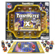 Nfl Teenymates Series X 15 Piece Gift Set And 35 Piece Puzzle. 14 Superstars +gold